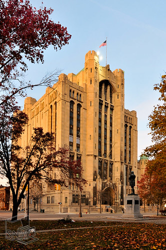 Detroit's Masonic Temple In Fall Sunset | by SNWEB.ORG Photography, LLC.