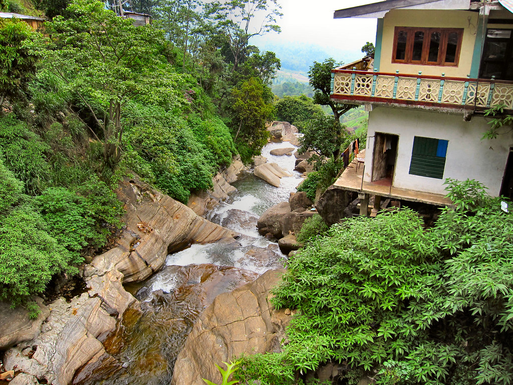 House By The Waterfall Sri Lanka Must Be Noisy Living