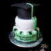 simple green grad with middle tiere left blank for grad photos to be added