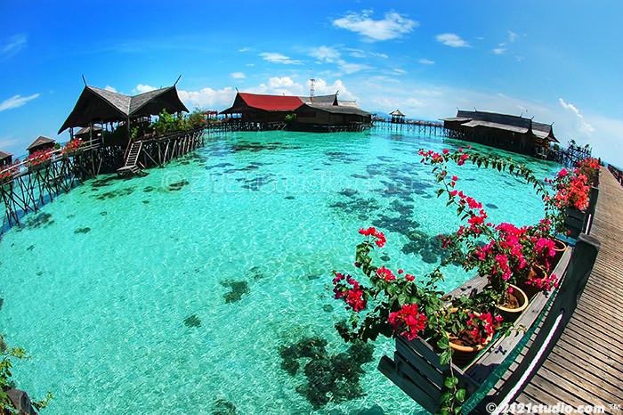 Sipadan kapalai dive resort hdr tone mapped hdr from 3 - Kapalai dive resort ...