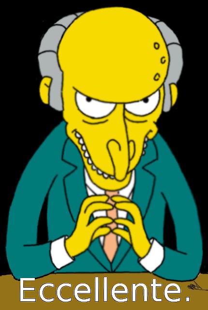 Mr Burns Eccellente Digital Art Time 20 Min Finish