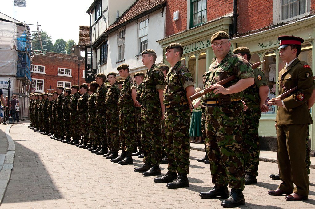 Lining Up For The Parade A Tri Service Cadet Parade In