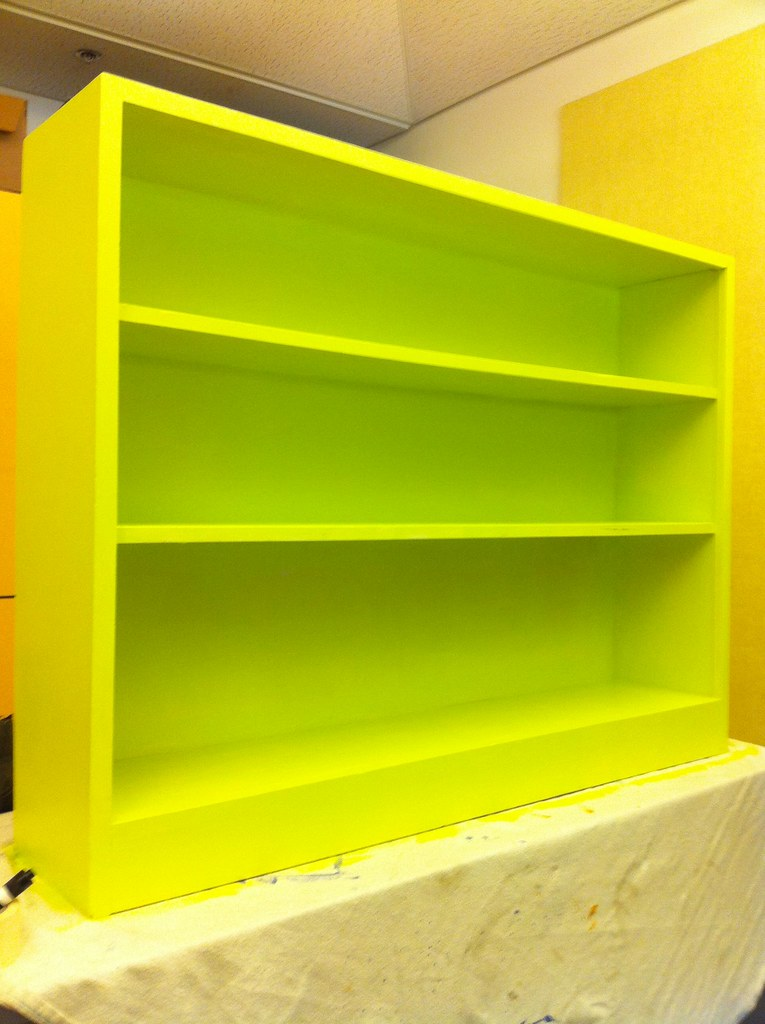 Lime Green Bookshelf