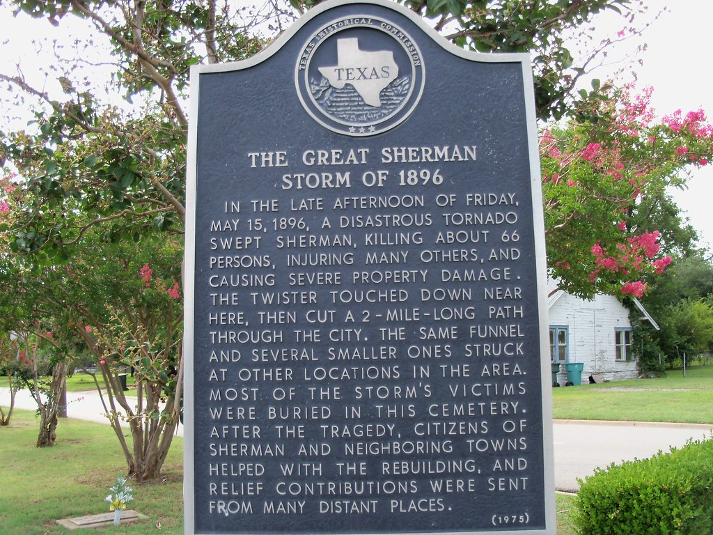 The Great Sherman Storm Of 1896 Sherman Texas Historical