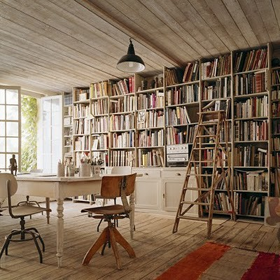 Wall Of Bookshelves wall of bookshelves | this is a little rustic and officey - … | flickr