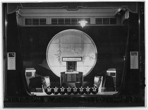 hmv 363 Oxford Street, London - window display 1920s