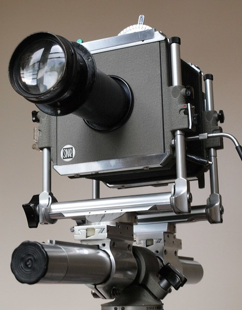 Sinar Norma with home-made Petzval-type lens