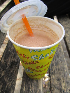 Vegan Stracciatella (Chocolate and Vanilla) Milkshake from Der Eisbarliner | by veganbackpacker