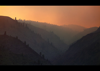 Wild fire above Wenatchee II | by sparth