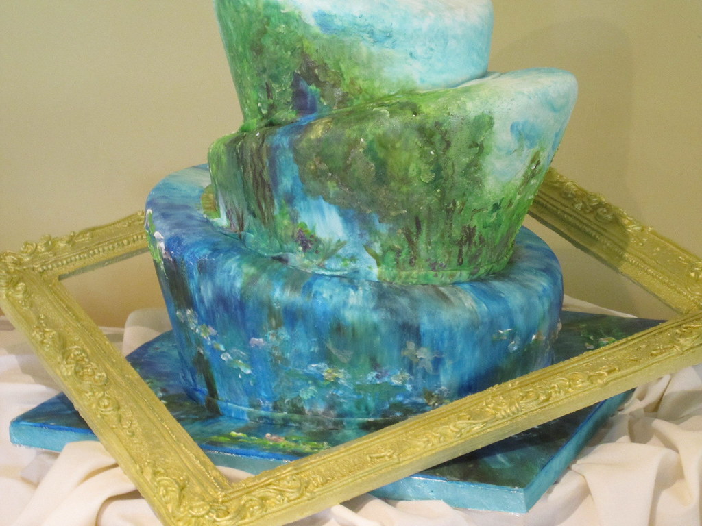 cake art close up bottom 3 tiers of art inspired topsy ...