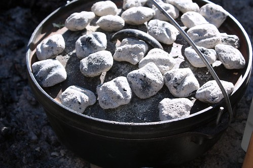 Dutch oven and coals | by Completely Delicious