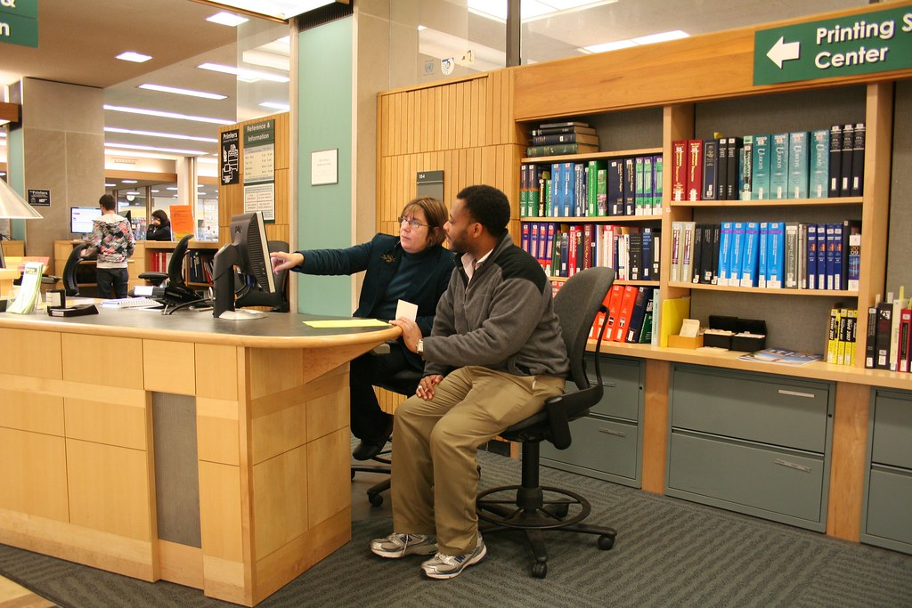 Olin Library Reference Desk | Olin & Uris Libraries | Flickr