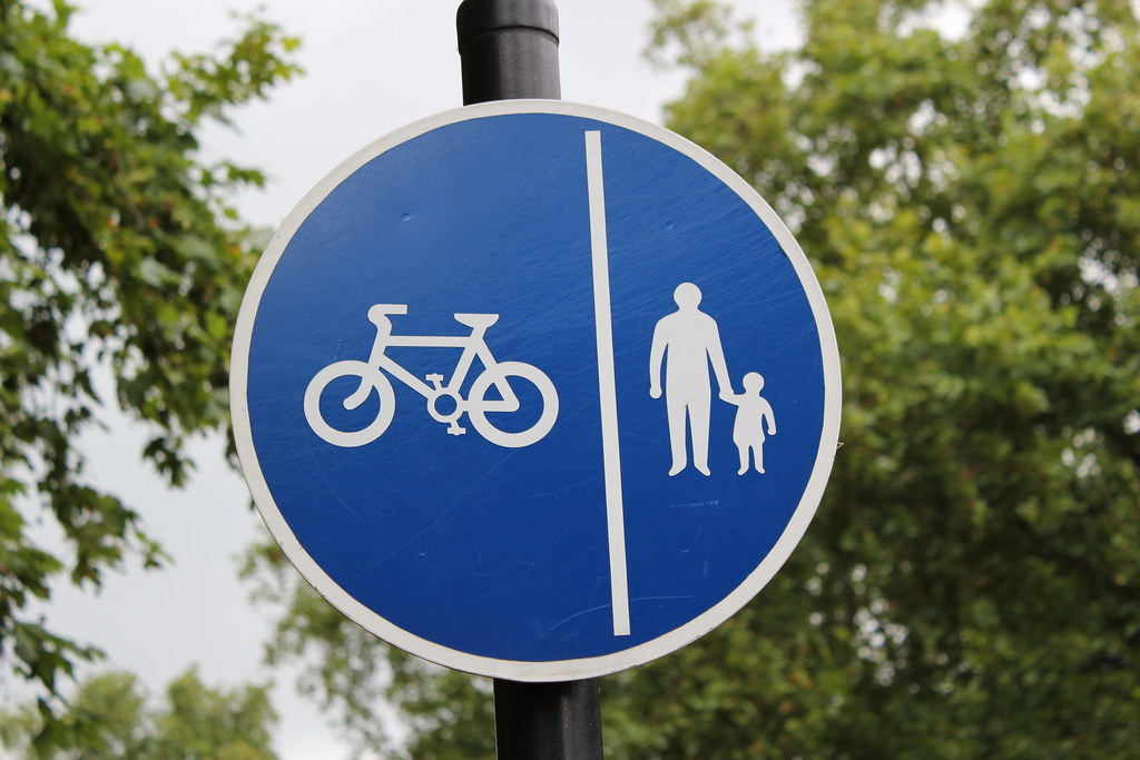 Classic Cyclist And Pedestrian Sign In London The