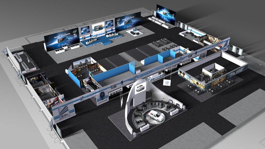 ESL Intel Alienware Gaming Arena | gamescom, Stand in