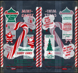 Bonomo's - Korday Candies Mini-Canes - miniature candy canes - plastic package proof - 1950's | by JasonLiebig