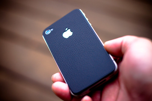 iPhone 4 vintage leather bling skin | by hhdoan