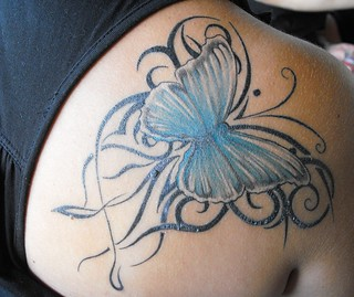 butterfly tattoo | by The House of Cakes Dubai