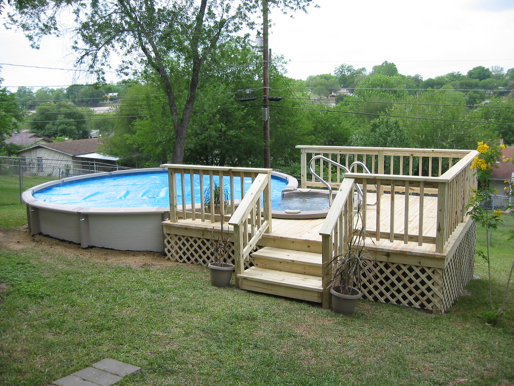 Above Ground Pool And Spa Combination San Antonio Tx