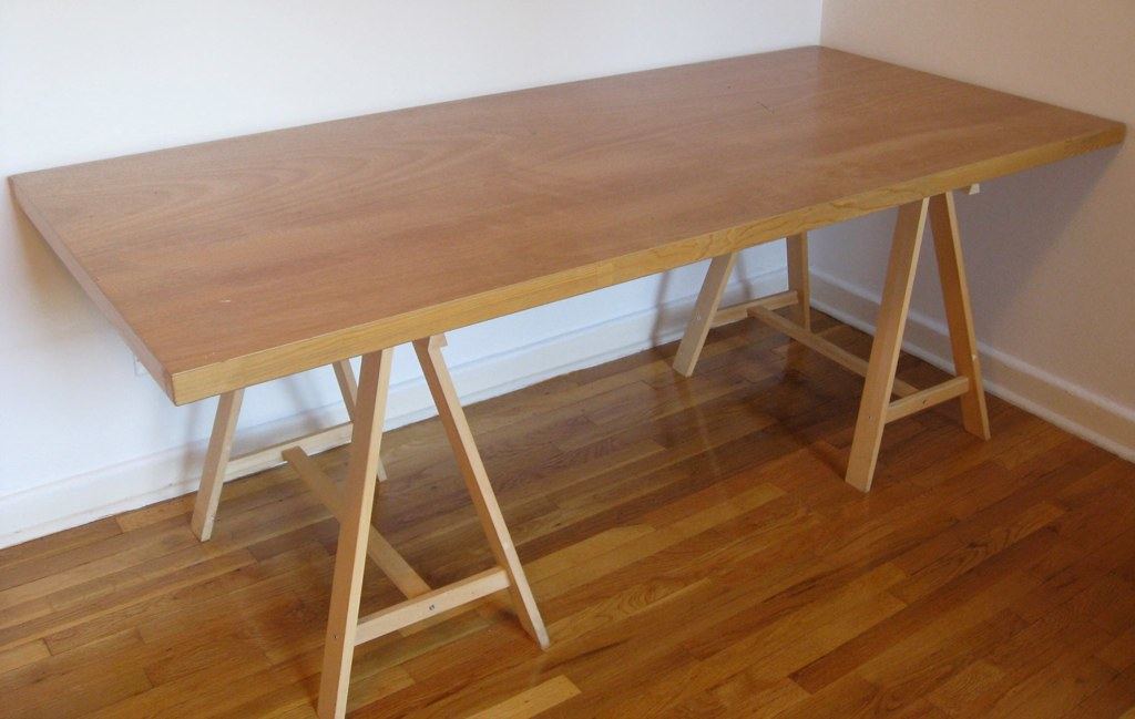 Solid Wood Door Desk Table 40 For Table Top 80 X 36 Quot 2