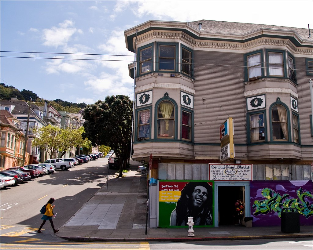 Walkin 39 the haight haight street san francisco a mural for Bob marley mural san francisco