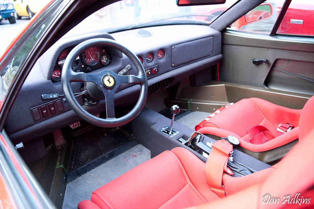 ferrari f40 interior dan adkins flickr. Black Bedroom Furniture Sets. Home Design Ideas