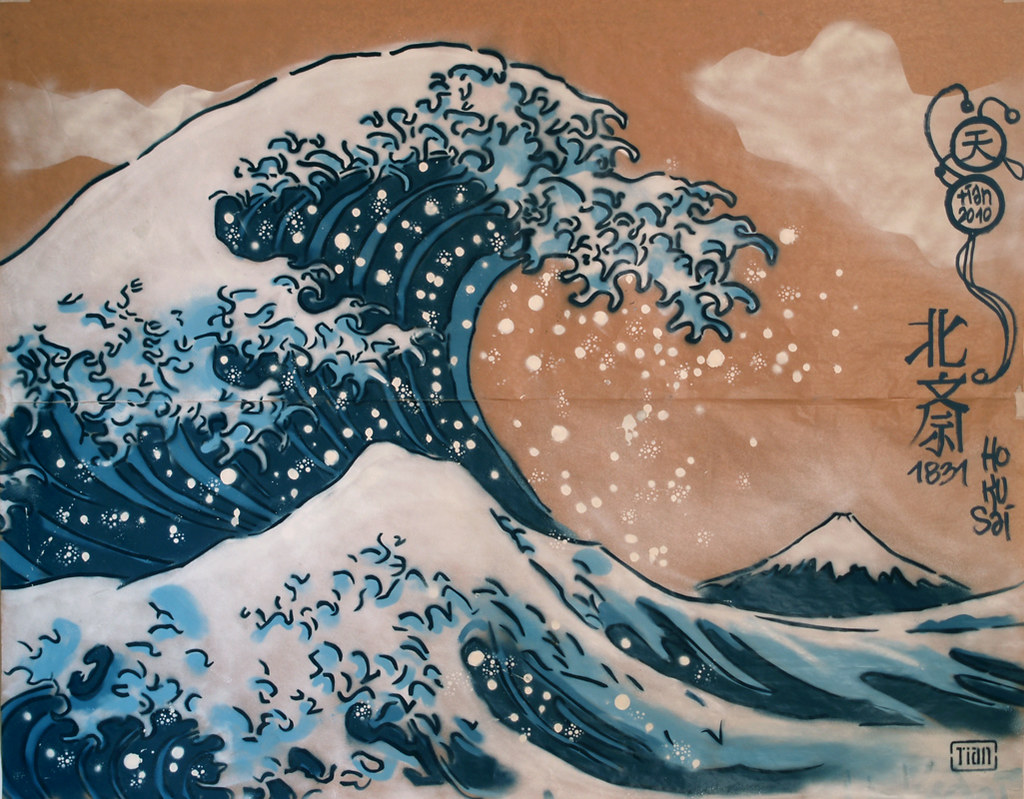 Great Wave (original colors) | d'après La Grande Vague de ...