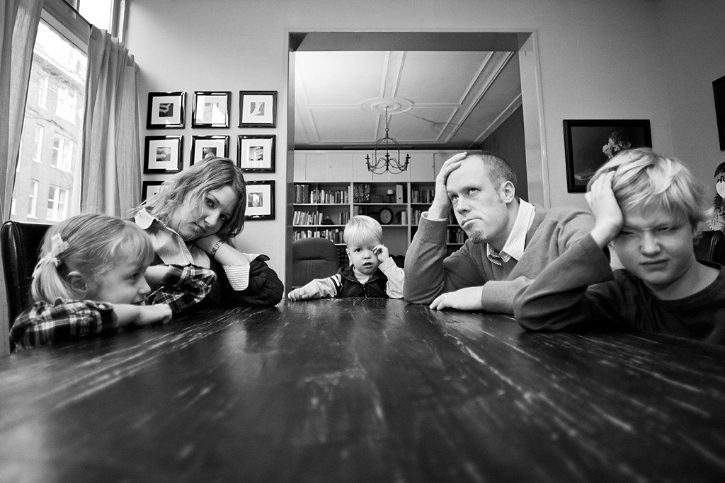 Family Bored At Dining Room Table Amsterdam Asp Flickr
