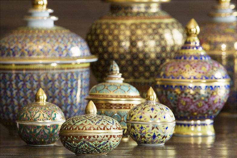 Benjarong Ceramics Benjarong Thai เบญจรงค์ Ware Is A
