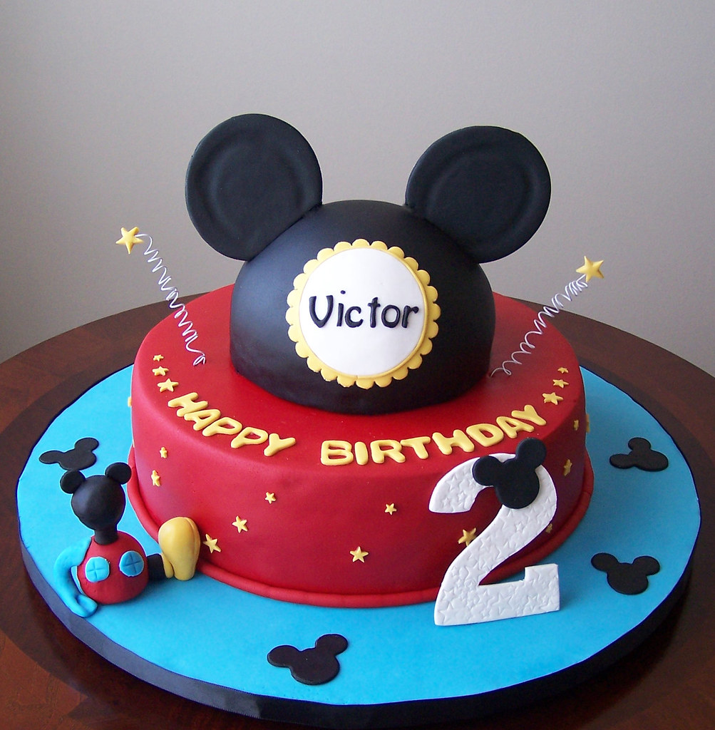 Mickey Mouse cake This was my boy version of this cake tha Flickr