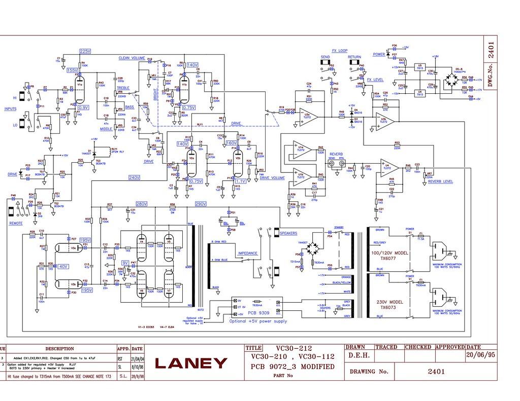 Laney VC30 schematic | Theodor Rzad | Flickr
