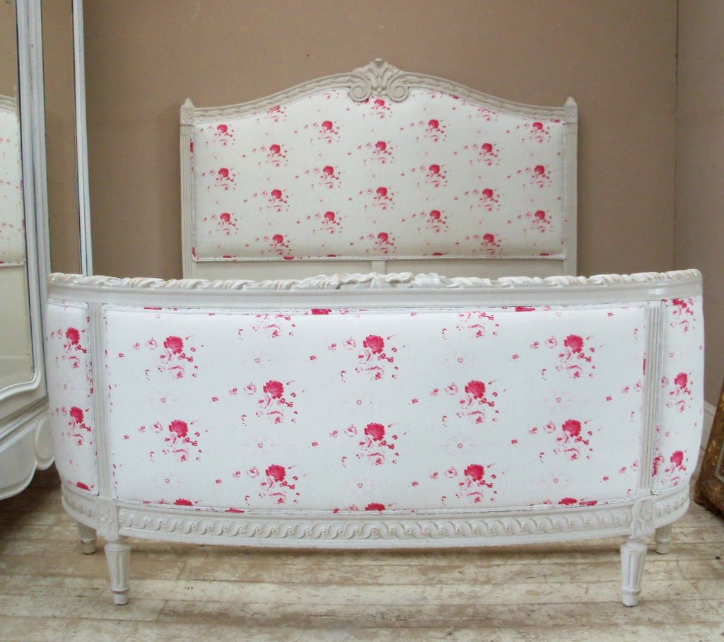 White Upholstered Bed Frame Decor