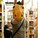 What's a horse head doing in a bookstore?