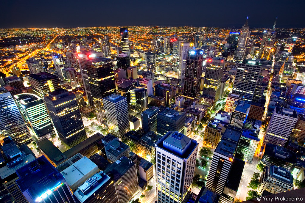 Night View Of Melbourne Night View Of Melbourne From