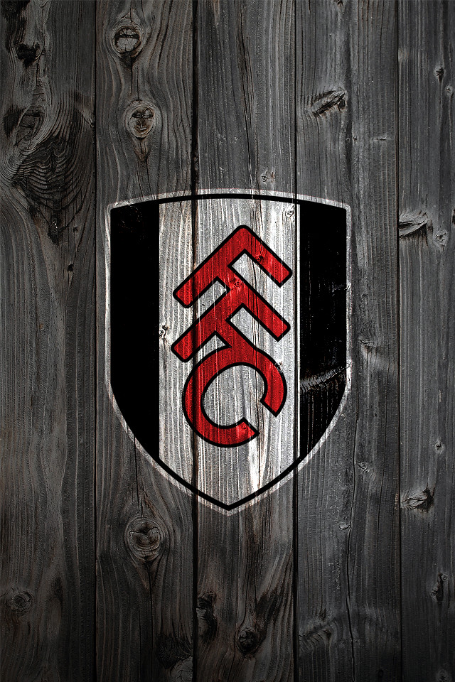 fulham fc wood iphone 4 background logo on wood