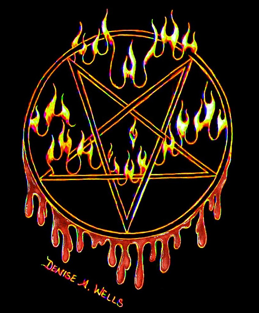 Pentagram Tattoo Design By Denise A Wells A Wicked Pentag Flickr