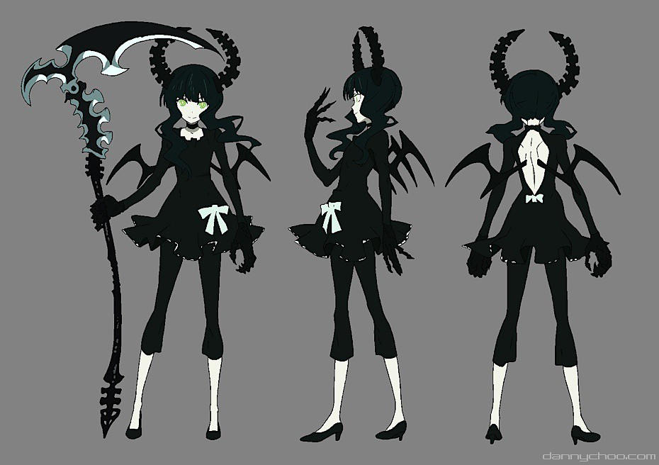 Character Design Masterclass Book One : Black rock shooter yuu the scale dead master figure by