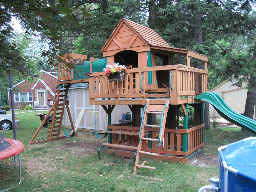 our kids jungle gym just after the lightning strike flickr. Black Bedroom Furniture Sets. Home Design Ideas