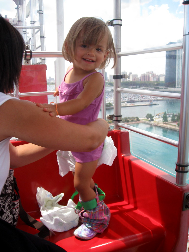 getting a diaper change on the ferris wheel didre flickr
