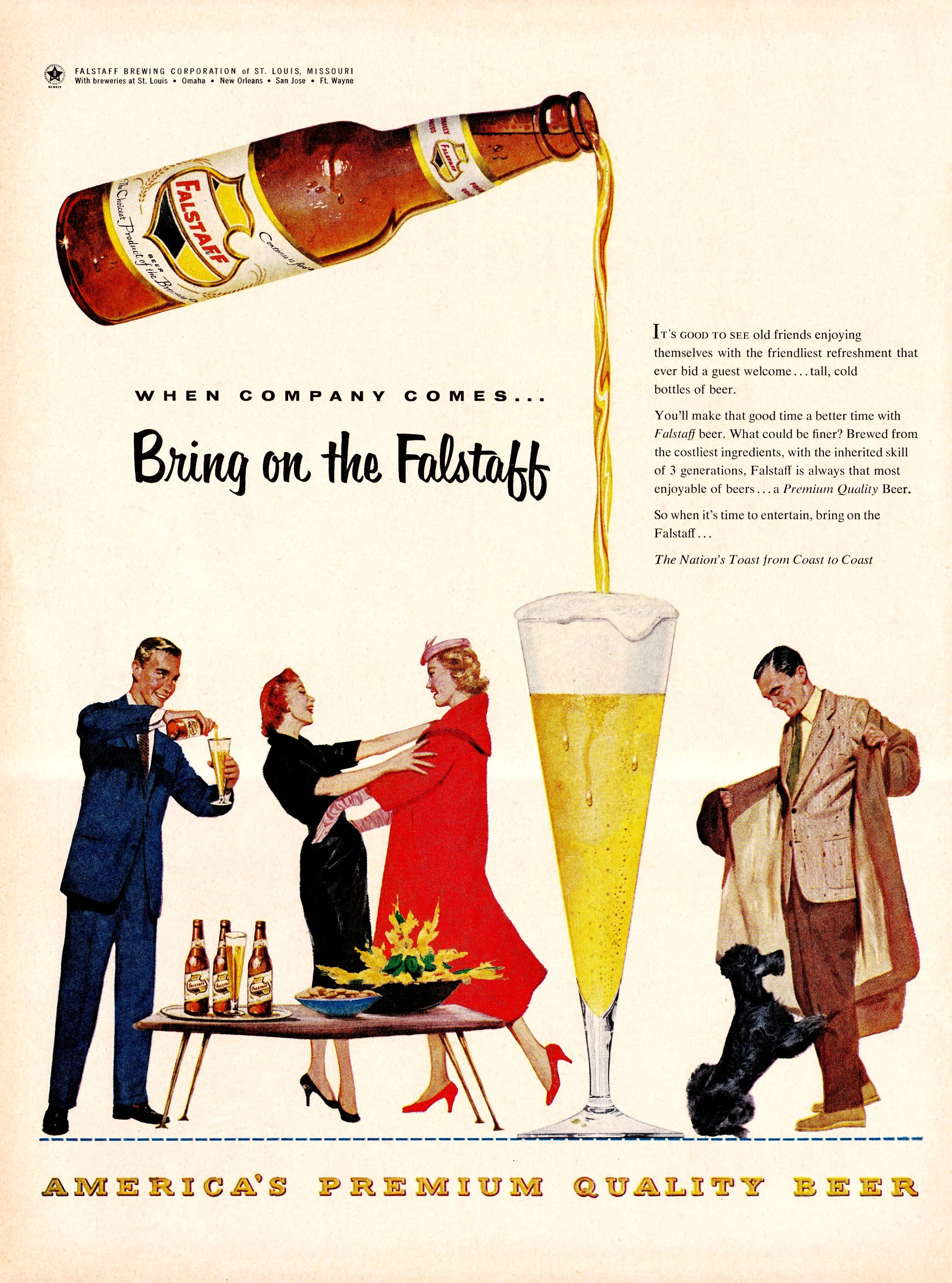 Falstaff Brewing Corporation - published in Life - February 7, 1955