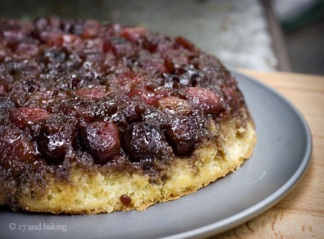 Cherry Cornmeal Upside Down Cake 2 | by Elissa @ 17 and Baking