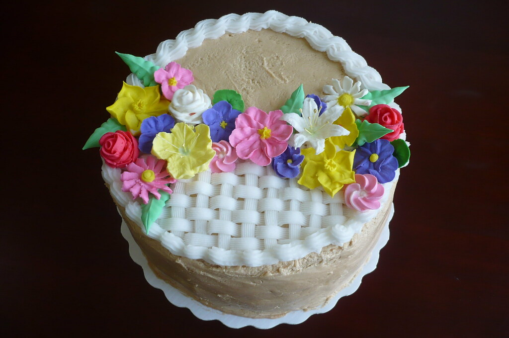 How To Decorate Fruit Basket Cake