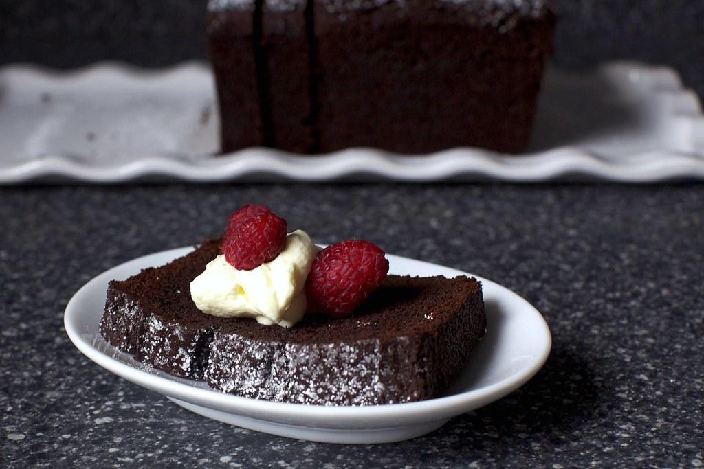 chocolate cake + cream + raspberries   Everyday Chocolate Ca ...