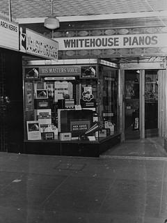 hmv goods on display in Australia - Arch Kerr's Music Centre - 371 Ruthven Street, Toowoomga, Australia 1940s