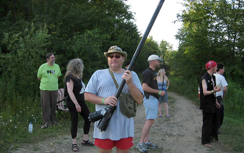 20100704 1751 - X-Day - Troll Shoot - Dr. Dark, Princess Wei, Richard Skull (with potato gun), Dave Lister, Carolyn, Jannus, Clint - (from SubGenius.com) - 1750-Troll Shoot-Rev_Skull | by Clio CJL