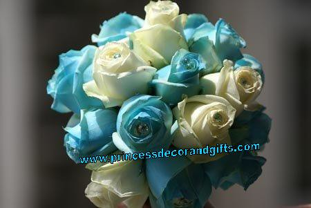 Aqua Roses Bouquet and White Roses wwwprincessdecorandgif Flickr