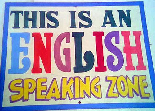 English-speaking zone   Taken in September 2006 at a ...
