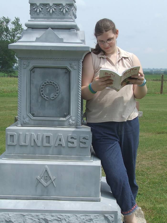 reading in the cemetery