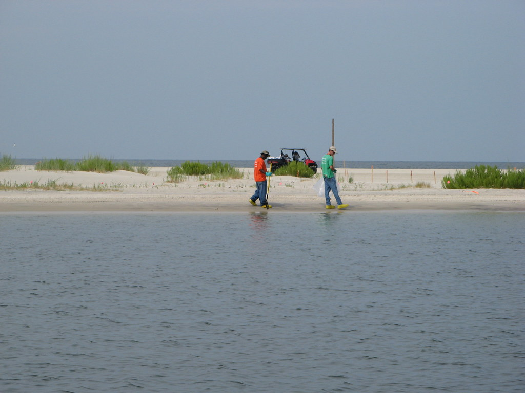 Beach cleanup crew august 2010 dauphin island alabama for Dauphin island fishing report