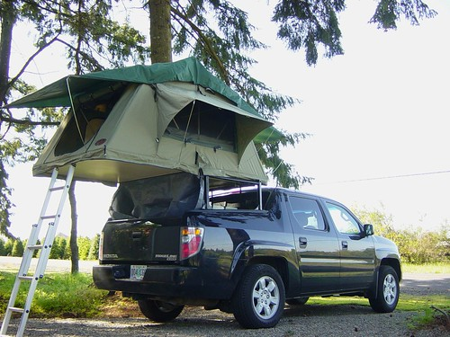Roof Top Tent On Truck Bed We Took This When Jay Picked