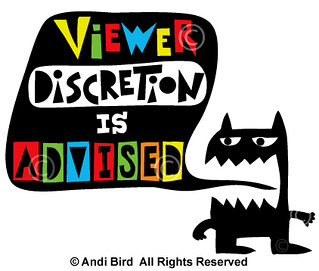 Viewer Discretion is Advised t shirt + fabric | by birdarts